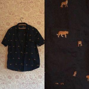 H & M leopard men's shirt XL